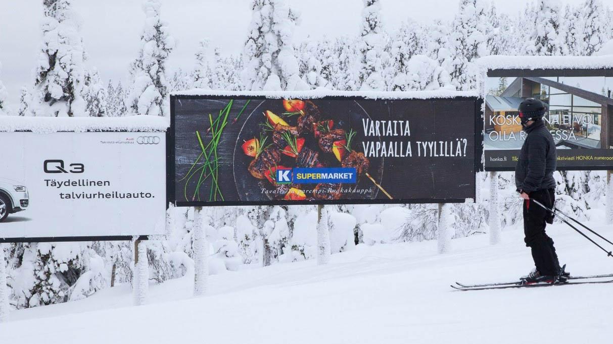 K-supermarket hiihtokeskus kampanja