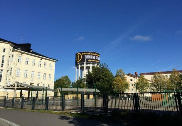 Finnkino Strand Lappeenranta ulkomainonta erikoistoteutus jättipinta