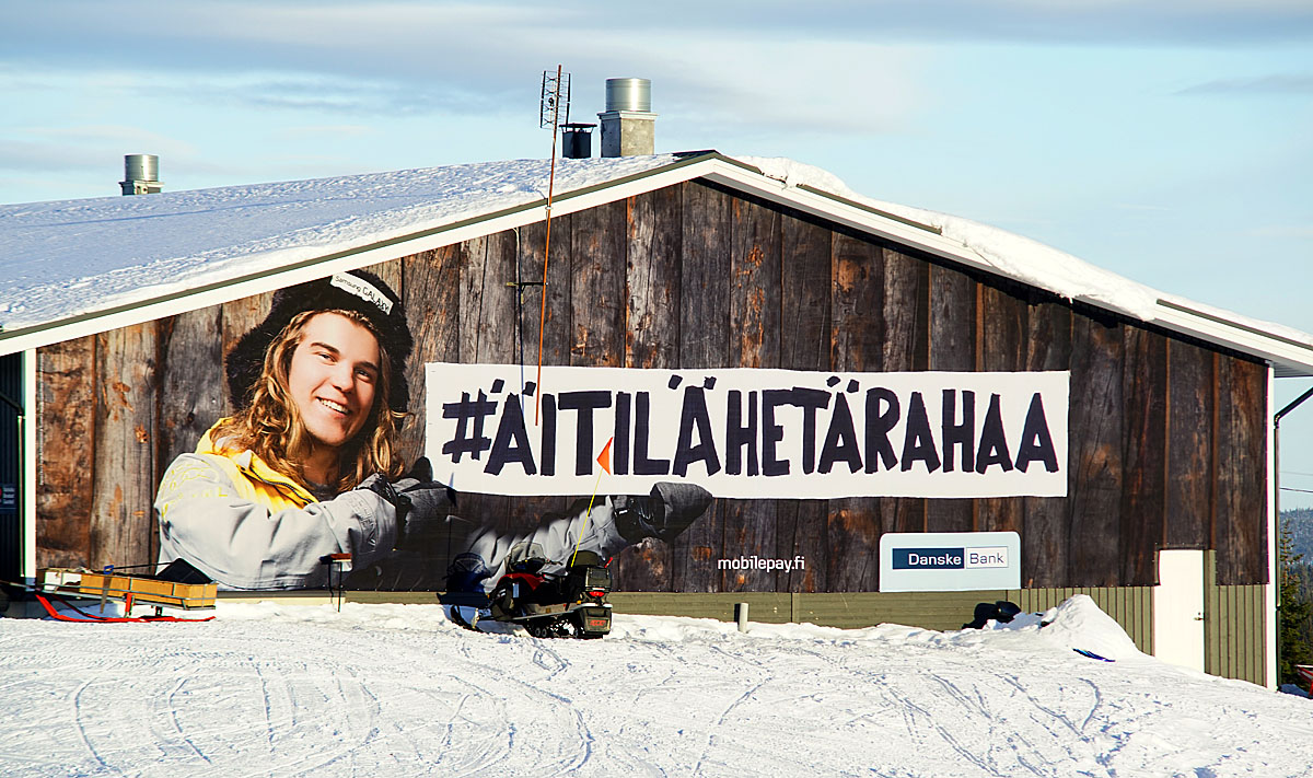 Danske bank hiihtokeskus kampanja mediapinta